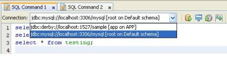 Multiple SQL Command Tab