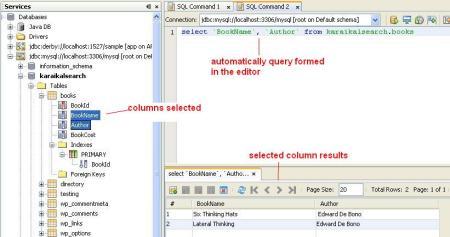 View Selected Column Data